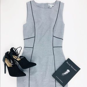 Gray Dress with Black Piping